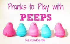 Does the Easter Bunny use the potty at your house? Fun Pranks to Play with PEEPS! #peeps