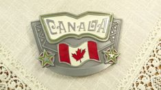 CANADA Belt Buckle, Large Statement Buckle- Country Pride, July 1st Cup And Saucer Set, Belt Buckles, Tea Party, Pride, Canada, Posts, Country, Etsy, Vintage