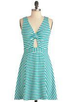 Modcloth Spearmint for You Dress #modcloth #dress #stripes