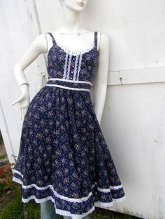 Vintage Gunne Sax dress  I wore this dress under my Graduation Gown in 1981