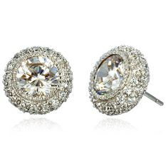 Clara's Luxurious Round CZ Stud Earrings - Only $49.95 — Fantasy Jewelry Box