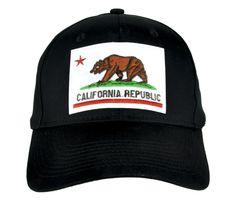 California Flag Bear Hat Baseball Cap Alternative Clothing So Cal Pride