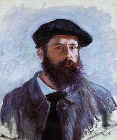 Self Portrait with a Beret 1886 by Claude Monet ✖️More Pins Like This One At FOSTERGINGER @ Pinterest✖️