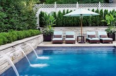 Lovely backyard pool (via Style at Home)