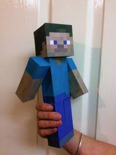 Minecraft Steve paper model