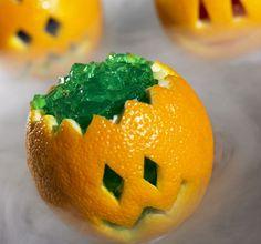 Creepy Halloween treats: pumpkin jello
