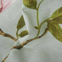 Country Flower and Leaves Eco friendly Curtain Floral Curtains, Eco Friendly, Leaves, Interior Design, Country, Flowers, Home Decor, Nest Design, Decoration Home