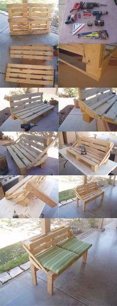 Banco DIY con un palé - instructables.com