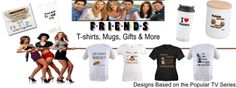 Friends TV Show fans. 10 years after the show ended it is still one of the most popular shows in syndication. Shop unique Friends TV Fan Gear wiith memorable quotes, catch phrases and one-of-a-kind art designs. #Friends