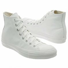 CONVERSE Men's All Star Leather Hi (White Monochrome « Impulse Clothes