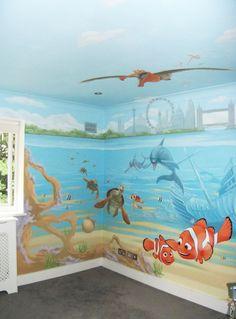 deepsea wall mural