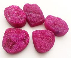 Pink Druzy Mix Shape Lot Druzy Heart Druzy Druzy by gemsforjewels