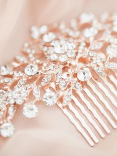Rose gold comb. Petals and Stones. Photography: Sposto Photography spostophotography.com                                                                                                                                                     More