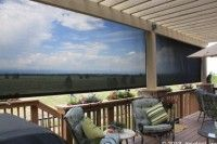 Oasis patio sun shade for large openings