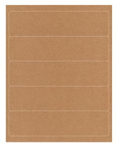 Rebinder Kraft Laser Labels x labels per sheet, 25 sheets per pack) Laser Labels