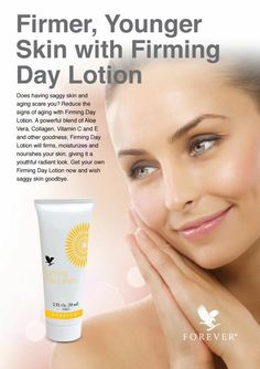 Firmer younger skin with our firming day lotion! Order online now here in USA. https://shop.foreverliving.com/retail/entry/Shop.do?store=USA&language=en#locations-shop