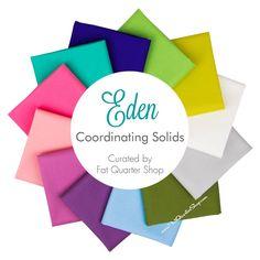 Eden Coordinating Bella Solids Fat Quarter Bundle Curated by Fat Quarter Shop - Free Spirit Fabrics | Fat Quarter Shop