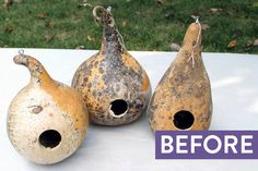 These autumn gourds get a modern makeover. Give this project a try this weekend!