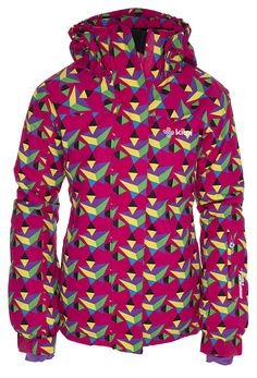 Girl's ski #jacket in some crazy #wild #colours. Use your sleeve #skipass pocket to hide your #sweets and adjust your #hood as you wish. #Kids love to play in the #winter, especially on the #slopes!