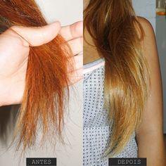 Tratamento de choque caseiro para cabelos danificados
