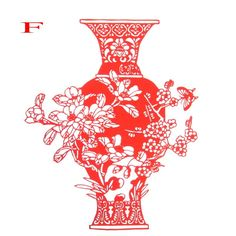 Chinese traditional  paper cutting craft flower pot pattern gift, antique imitation gift paiting, business  gift free shipping Thailand Pictures, Chinese Paper Cutting, Business Gifts, Flower Crafts, Flower Pots, Compact, Sculptures, Paper Crafts, Free