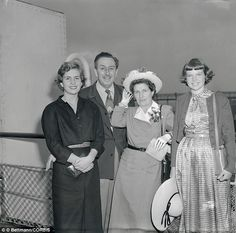 Disney clan: This June 1949 photo captured Walt Disney, his wife and two daughters, Diane (far left) and Sharon (far right).