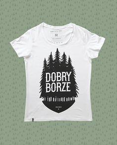 Koszulka biała - Dobry Borze - RUNO Manufaktura