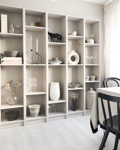 Living Room Interior, Home Living Room, Living Room Decor, Beautiful Interior Design, Modern Interior, Billy Ikea, Dinner Room, Interior Inspiration, Shelving