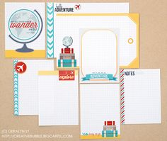 She has a whole line of journaling cards that are super cute by In a creative bubble. These are super cute for capturing vacation memories.