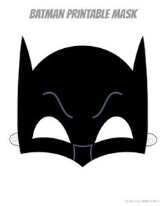 Printable Hero Masks | rickabamboo.com | #superhero #free #costume #batman