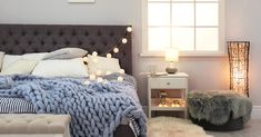 Stylish Bedroom Interior Comfortable Bed Stock Photo (Edit Now) 1059997682