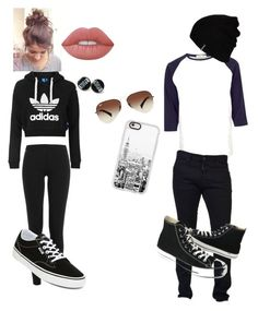 """""""Untitled #28"""" by annamnl on Polyvore featuring Topshop, Polo Ralph Lauren, Vans, Lime Crime, River Island, Dsquared2, Hurley, Casetify, Ray-Ban and Converse"""