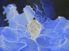 christ walking on water painting | Jesus walking on water by ShawnKaron