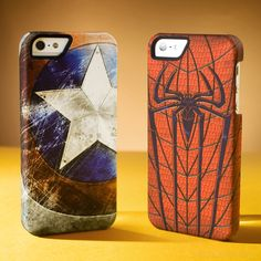 Marvel collector's edition cases for iphone 5 | Captain America and Spiderman