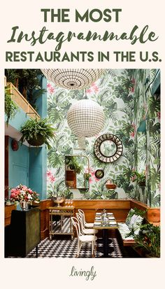 Hydroponics at home The Golden Era of Glamour Comes Alive at Leos Oyster Bar Architectural Digest Deco Design, Cafe Design, House Design, Garden Design, Interior Exterior, Interior Architecture, Interior Tropical, Tropical Design, Home Decor Ideas