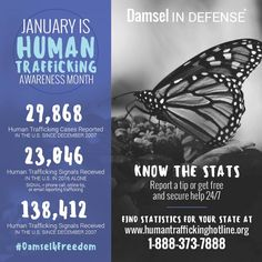 JAN -Human Traffickg Awareness Month ! Spread the mission! www.damseldivapro.com  Join my FREE facebook group for safety tips, awareness, new products, monthly giveaways, and more!!  www.facebook.com/groups/damseldivapro