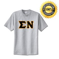 Sigma Nu Fraternity Standard Lettered T-Shirt   Something Greek   #SigmaNu #fraternitymerchandise #standards #somethinggreek