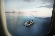 lujac desautel envisions glass luxury yacht on floating platform Palace, Floating Architecture, Floating Platform, Architecture Company, New Museum, Floating House, Yacht Design, Super Yachts, Luxury Yachts