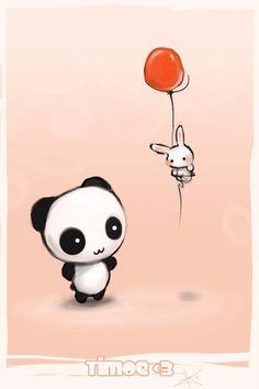 cute art with pandas | Pandas Pandas