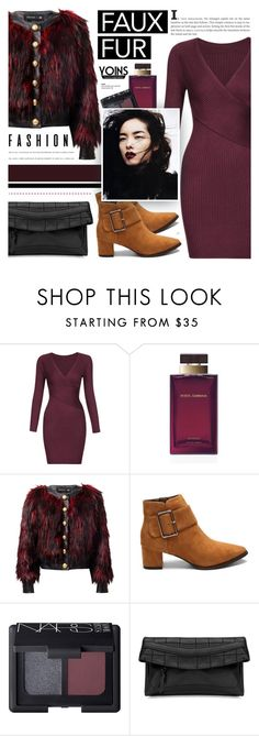 """""""Yoins 5.30"""" by cly88 ❤ liked on Polyvore featuring Dolce&Gabbana, Balmain and NARS Cosmetics"""