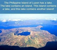 island with a lake with an island with a lake....wow