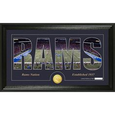 St. Louis Rams Silhouette Bronze Coin Panoramic Photo Mint