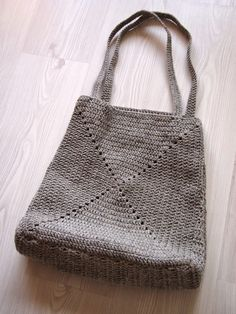 Crochet bag - no pattern but photos of its construction look pretty easy to figure out.