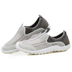 cd155106d09f Men Lycra Mesh Fabric Breathable Running Shoes Non-slip Casual Sneakers  Løbesko