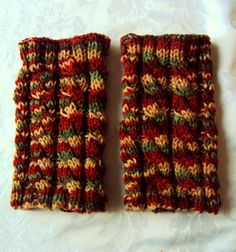 2 in1 Hand Knit Cabled Boot Cuffs - Leg Warmers - Boot Toppers - Legwear in Green/Beige/Brown/Cinnamon Women/Men Christmas Gift Under 25 by GrahamsBazaar, $20.00