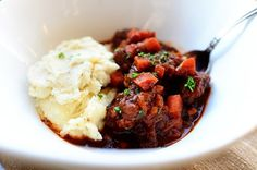Sunday Night Stew | Tasty Kitchen | LP: This is pretty much the epitome of a hearty beef stew. And the mashed potato recipe is SO good.
