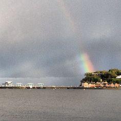Rainbow over Penarth, Cardiff Bay, Cardiff