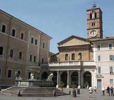 Trastevere: Across the River in Rome: Piazza Santa Maria in Trastevere