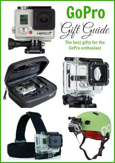 The best gifts for the GoPro enthusiast... Got one for Christmas, time to get a little more active!