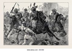 13th Bengal Lancers pursuing Egyptian infantry soldiers after the Battle of Tel El Kebir
